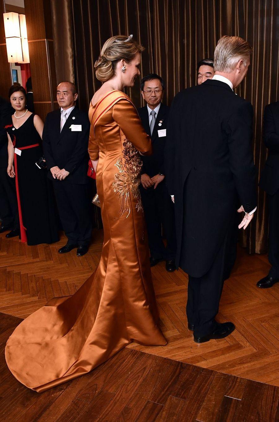 La reine Mathilde et le roi Philippe de Belgique à Tokyo, le 11 octobre 2016