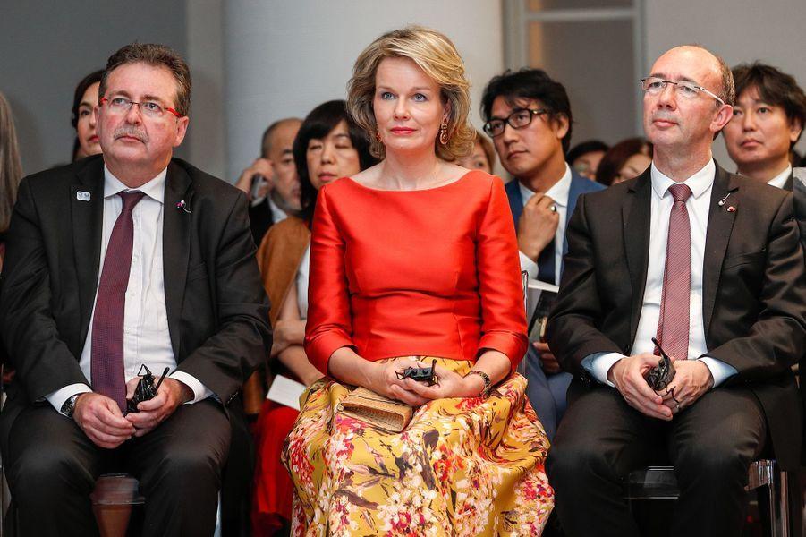 La reine Mathilde de Belgique à Tokyo, le 11 octobre 2016