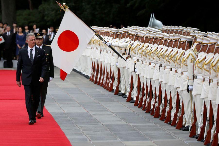 Le roi Philippe de Belgique à Tokyo, le 11 octobre 2016