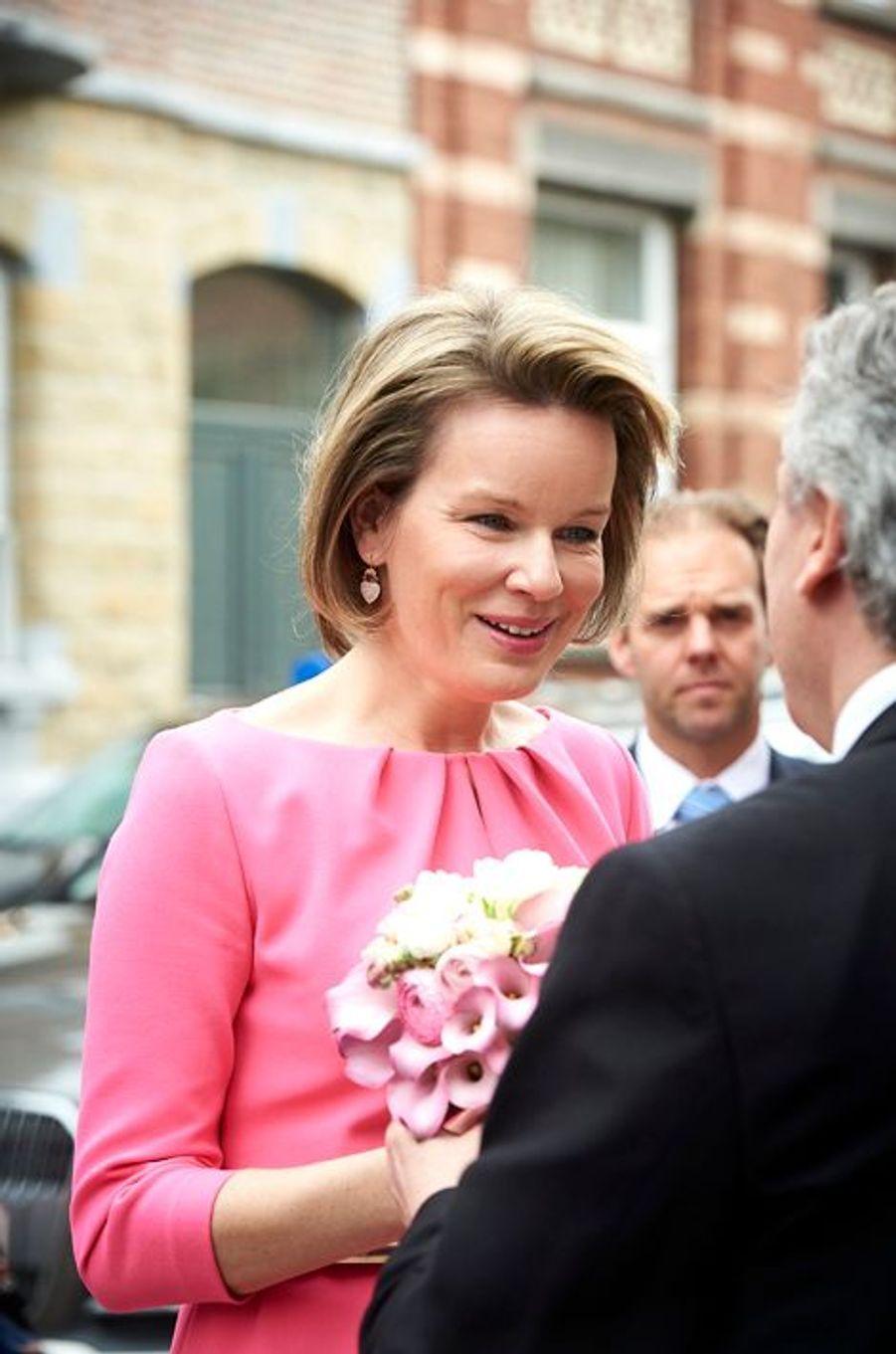 La reine Mathilde de Belgique à Namur, le 26 avril 2016