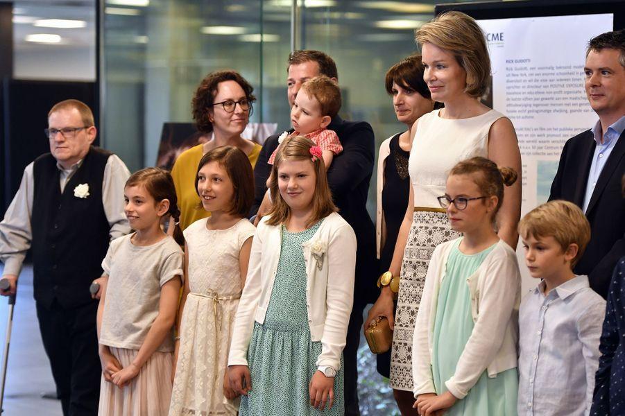 La reine Mathilde de Belgique à Louvain, le 22 juin 2016