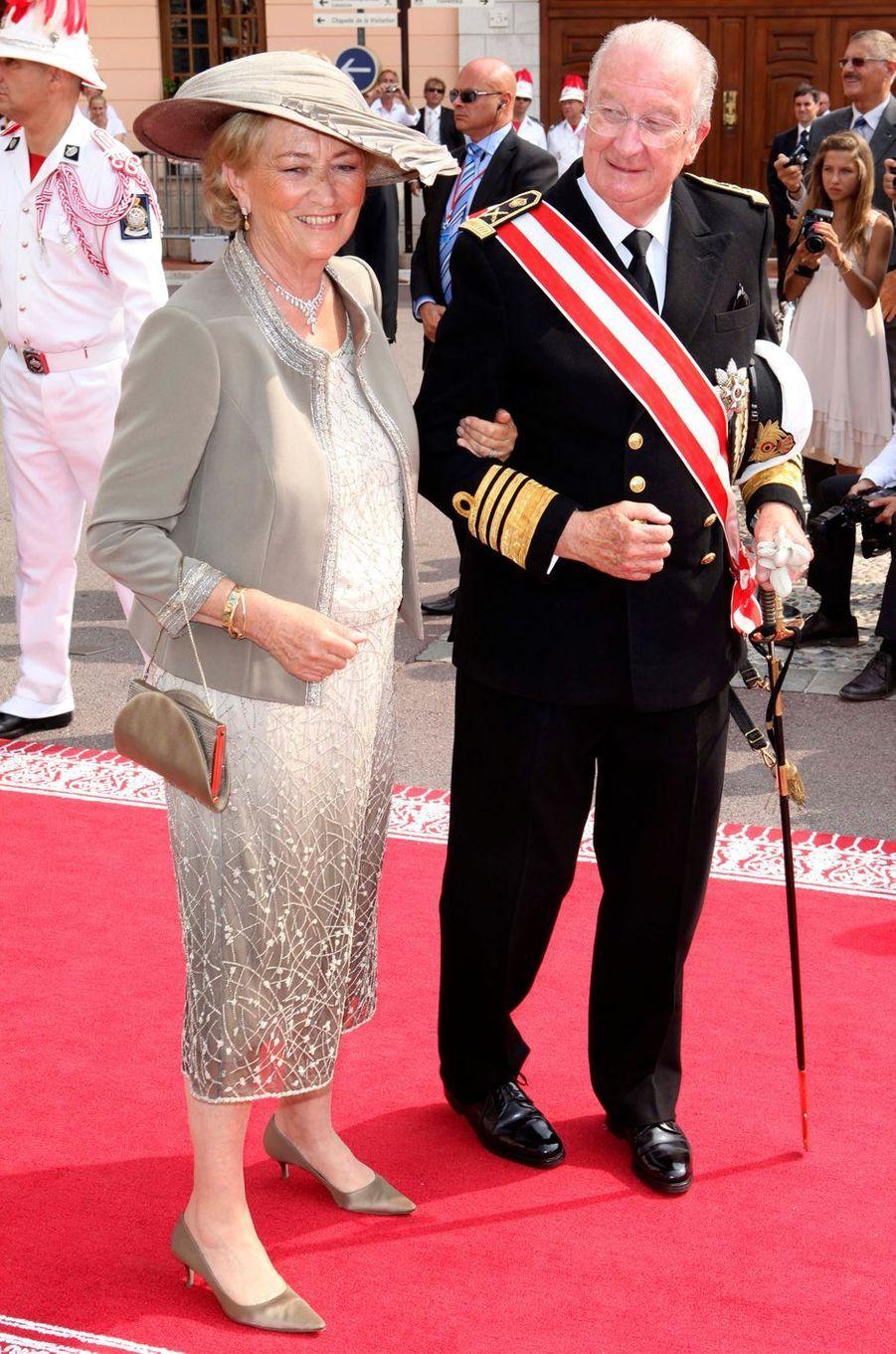 La reine des Belges Paola avec le roi Albert II, le 2 juillet 2011