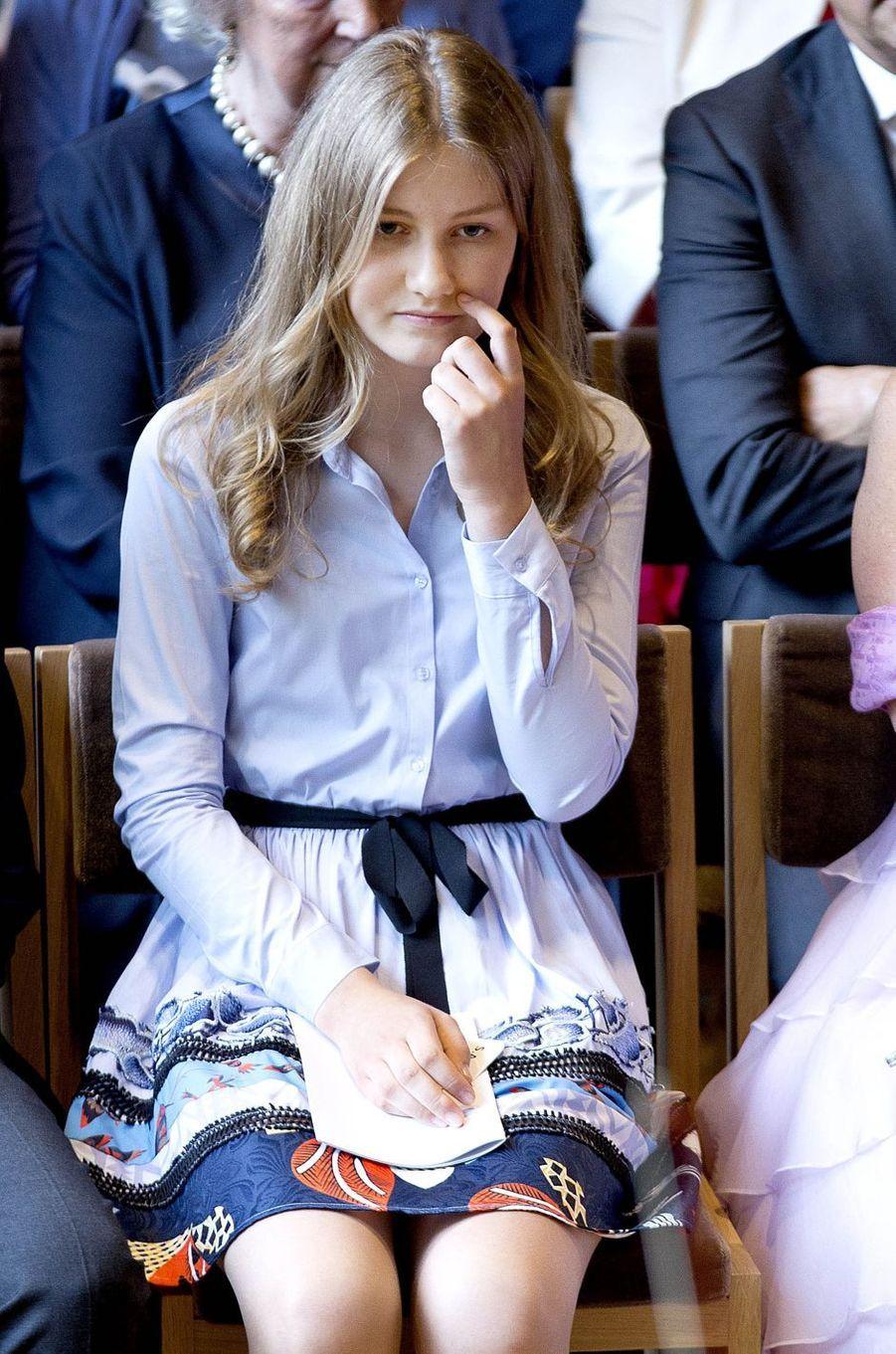 La princesse Elisabeth de Belgique à Waterloo, le 29 juin 2017