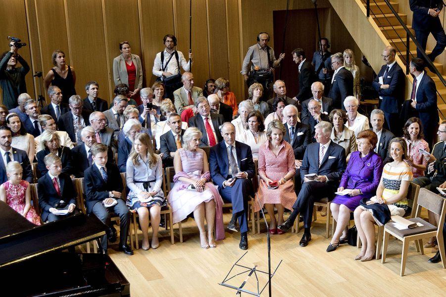 La famille royale de Belgique à Waterloo, le 29 juin 2017