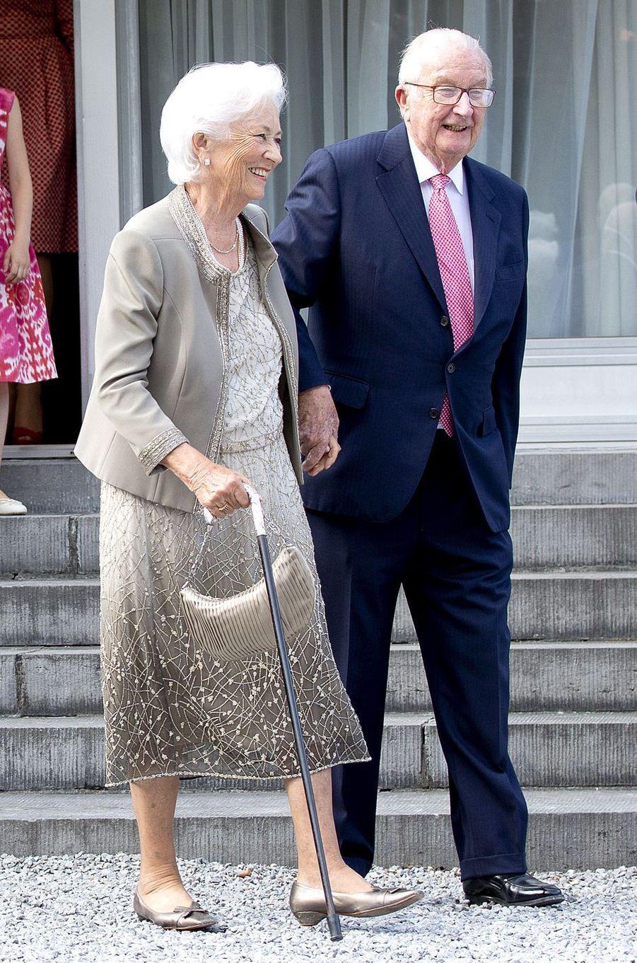 L'ex-reine Paola et l'ex-roi des Belges Albert II à Waterloo, le 29 juin 2017