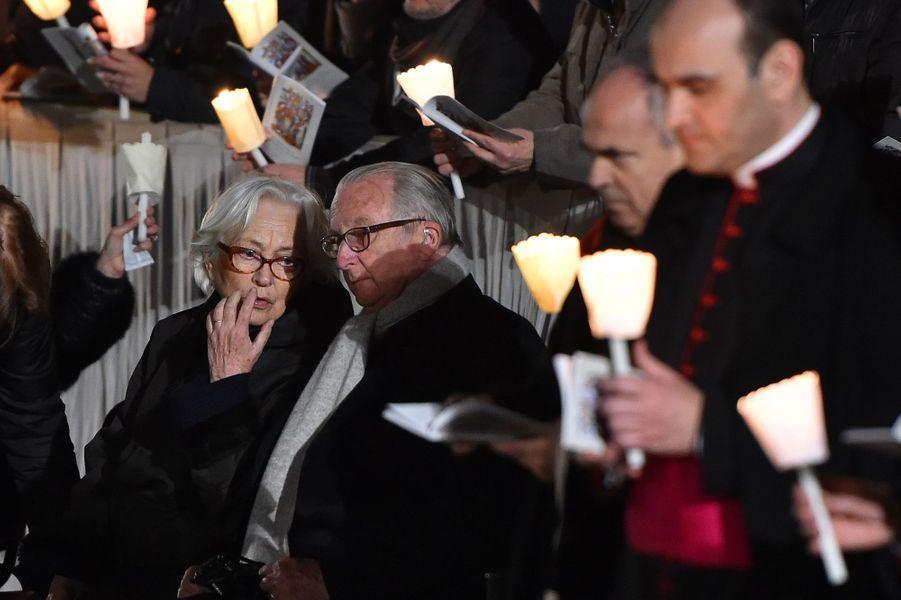 Paola et Albert de Belgique à la procession du Vendredi saint à Rome, le 25 mars 2016