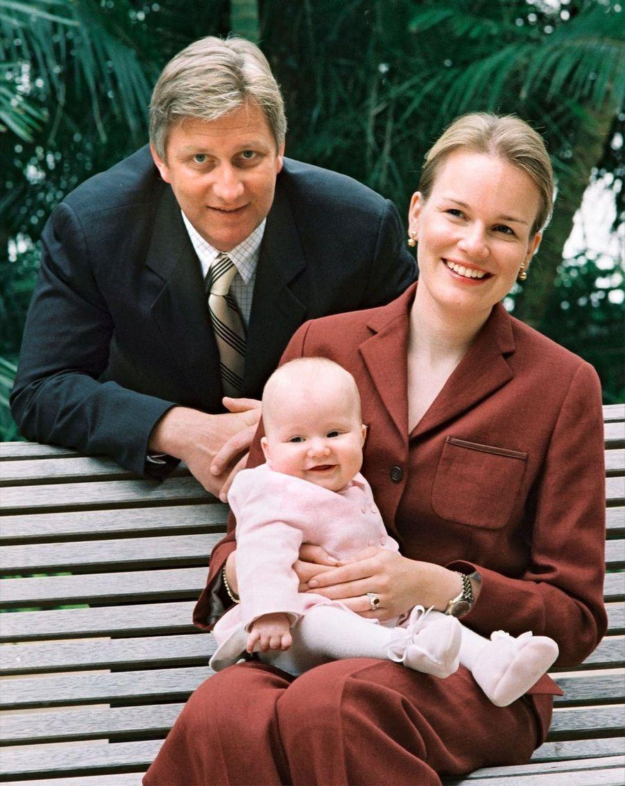 La princesse Elisabeth de Belgique à presque 6 mois, le 14 avril 2002