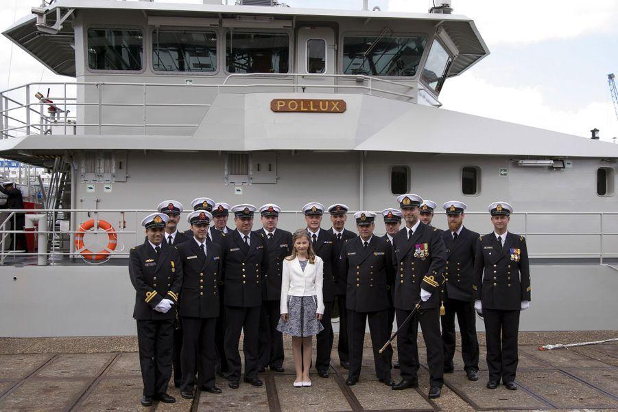 La princesse Elisabeth de Belgique baptise son premier navire, le 6 mai 2015