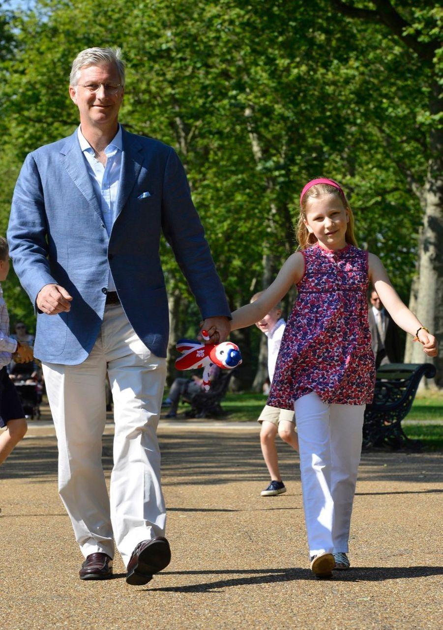 La princesse Elisabeth de Belgique, le 27 juillet 2012