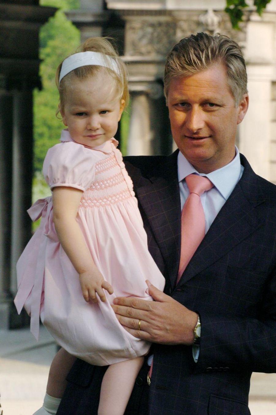 La princesse Elisabeth de Belgique, le 4 juin 2004