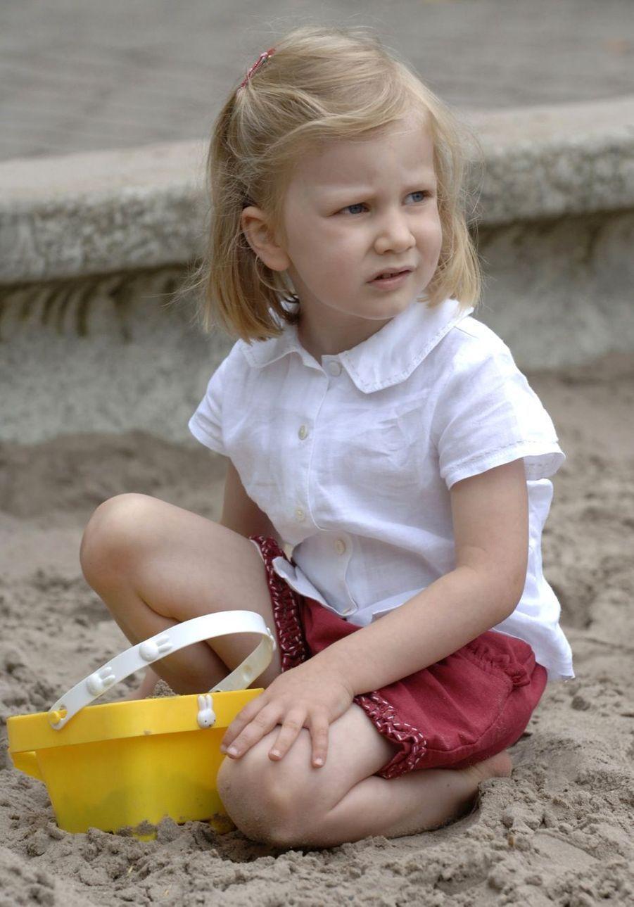 La princesse Elisabeth de Belgique, le 7 juillet 2006