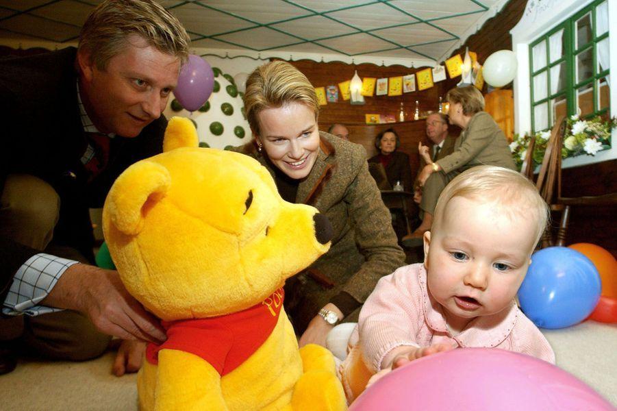 La princesse Elisabeth de Belgique pour son premier anniversaire, le 25 octobre 2002