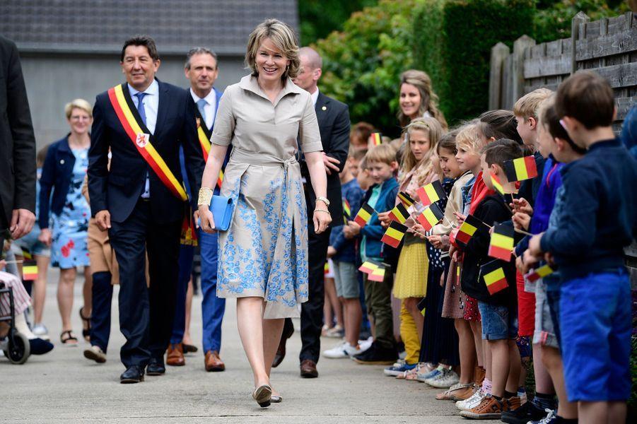 La reine des Belges Mathilde dans le Limbourg, le 13 juin 2019
