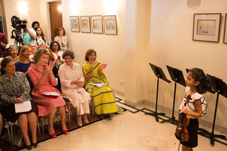 La reine des Belges Mathilde à Mumbai (Bombay), le 10 novembre 2017