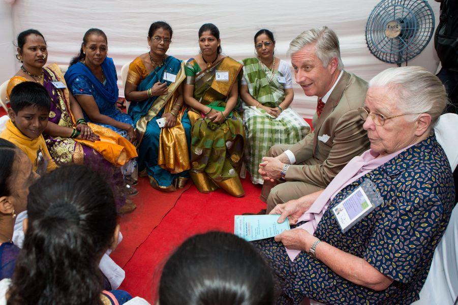 Le roi Philippe de Belgique à Bombay, le 10 novembre 2017