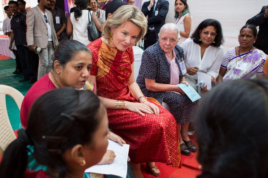 La reine Mathilde de Belgique à Bombay, le 10 novembre 2017