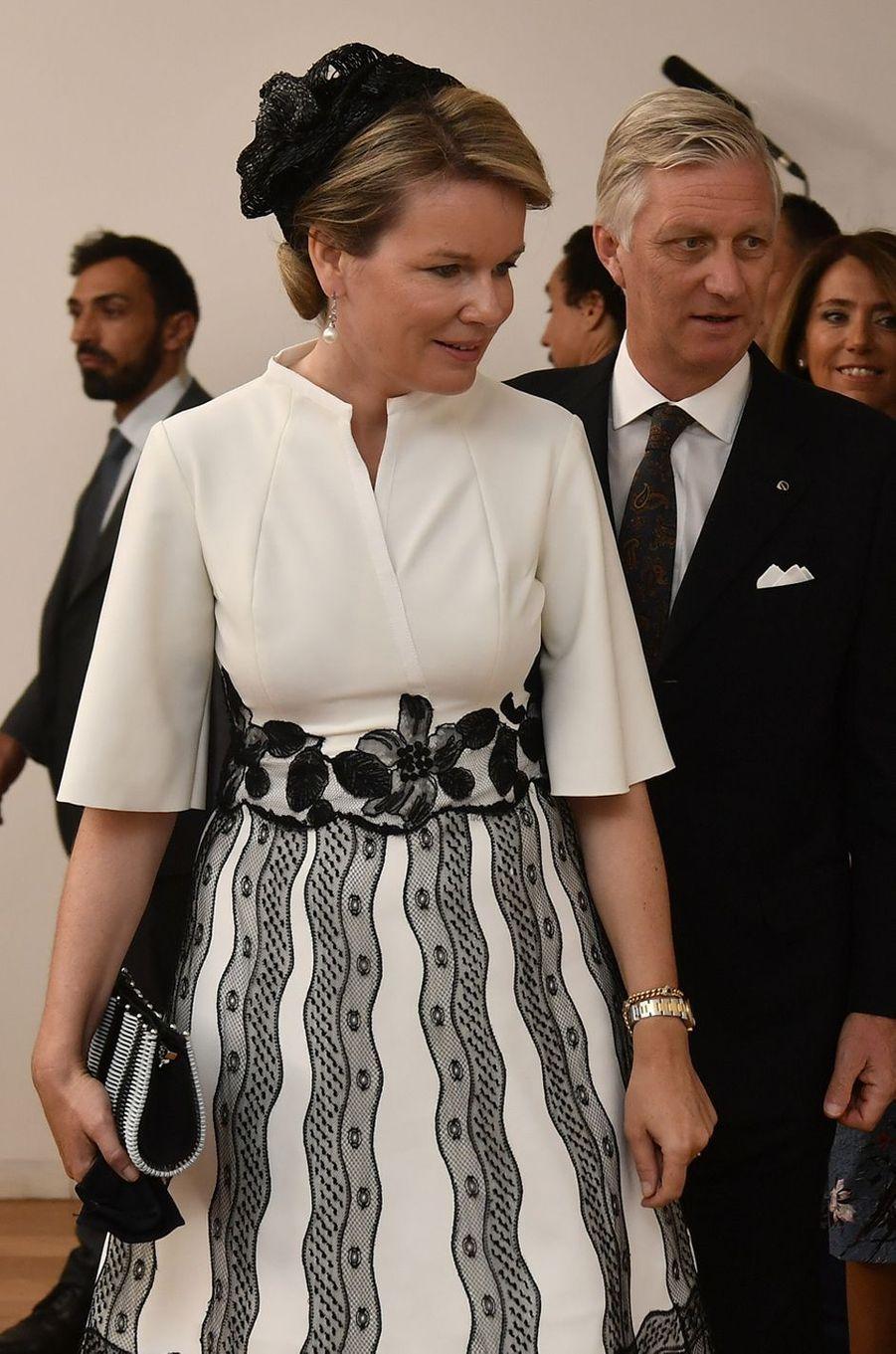La reine des Belges Mathilde à Porto, le 24 octobre 2018