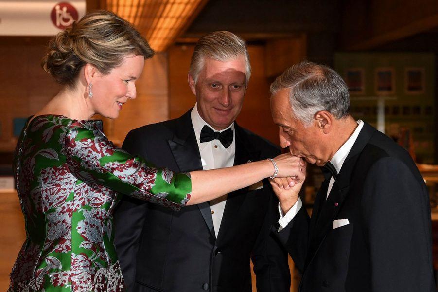 La reine des Belges Mathilde à Lisbonne, le 23 octobre 2018