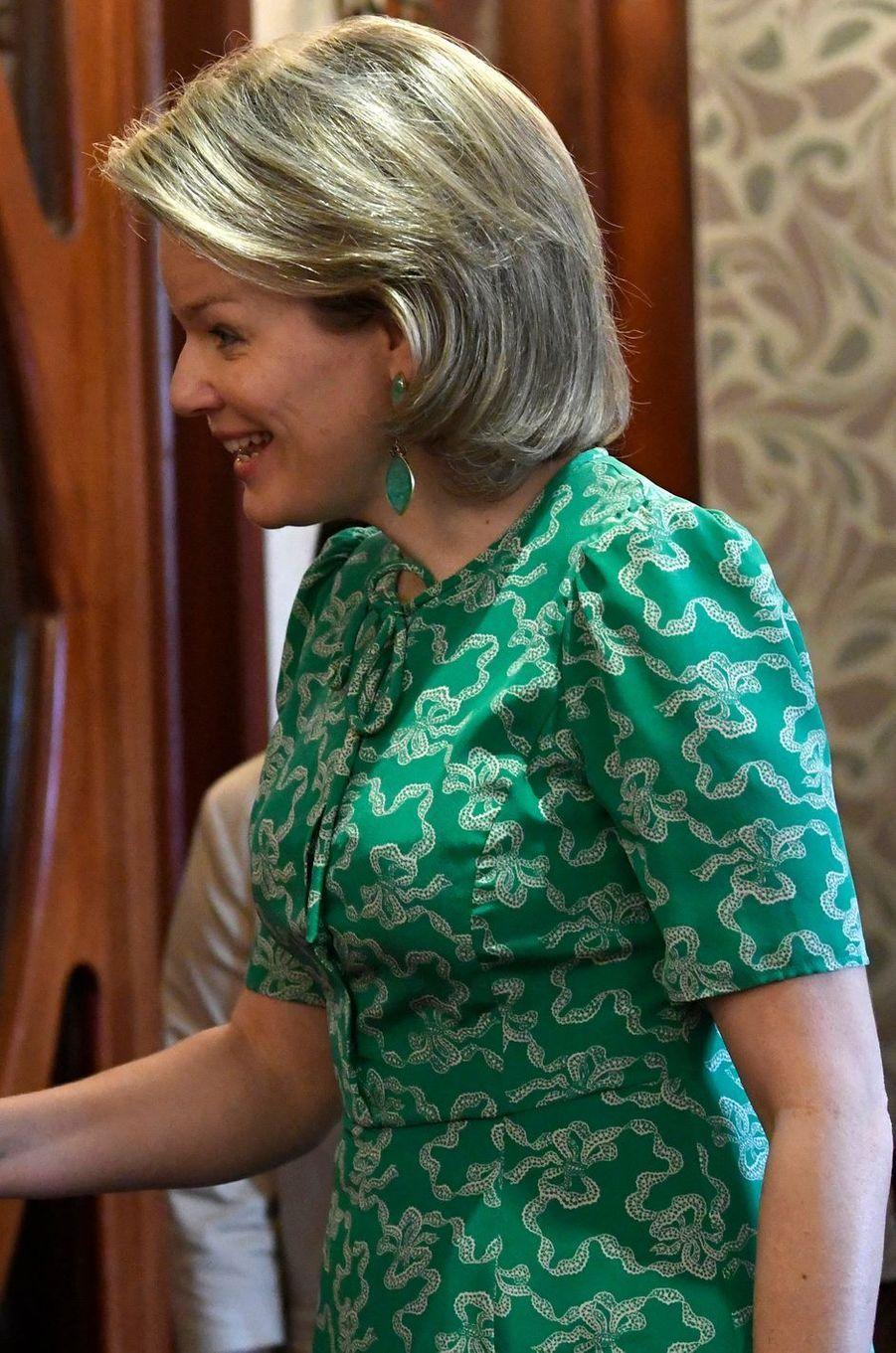 La reine des Belges Mathilde au Mozambique le 4 février 2019