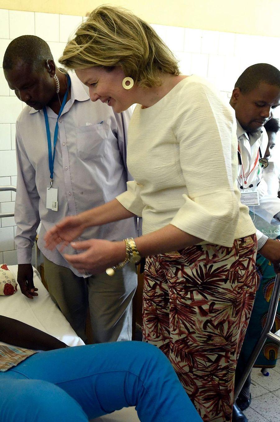 La reine des Belges Mathilde au Mozambique le 5 février 2019