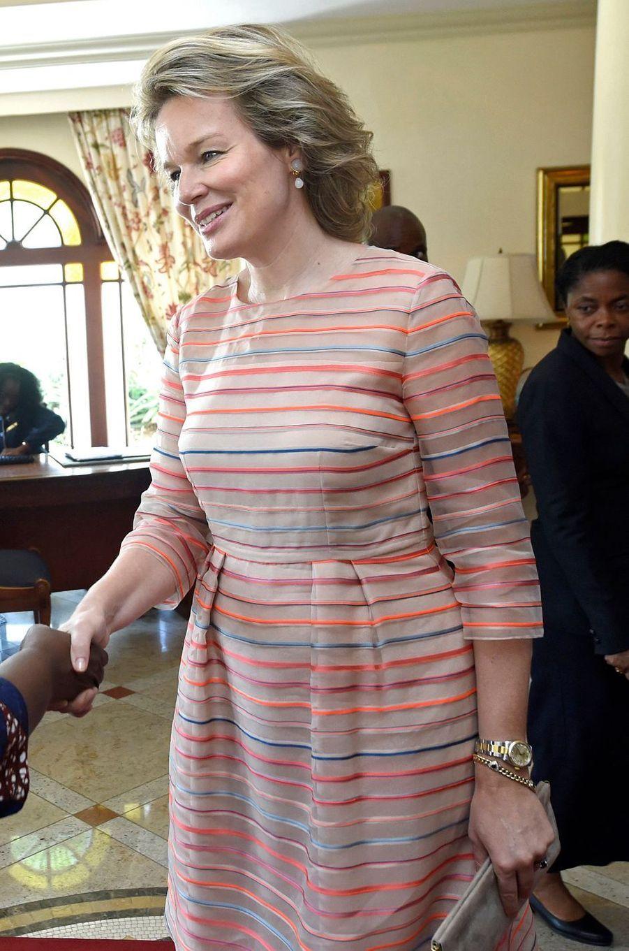 La reine des Belges Mathilde au Mozambique le 6 février 2019
