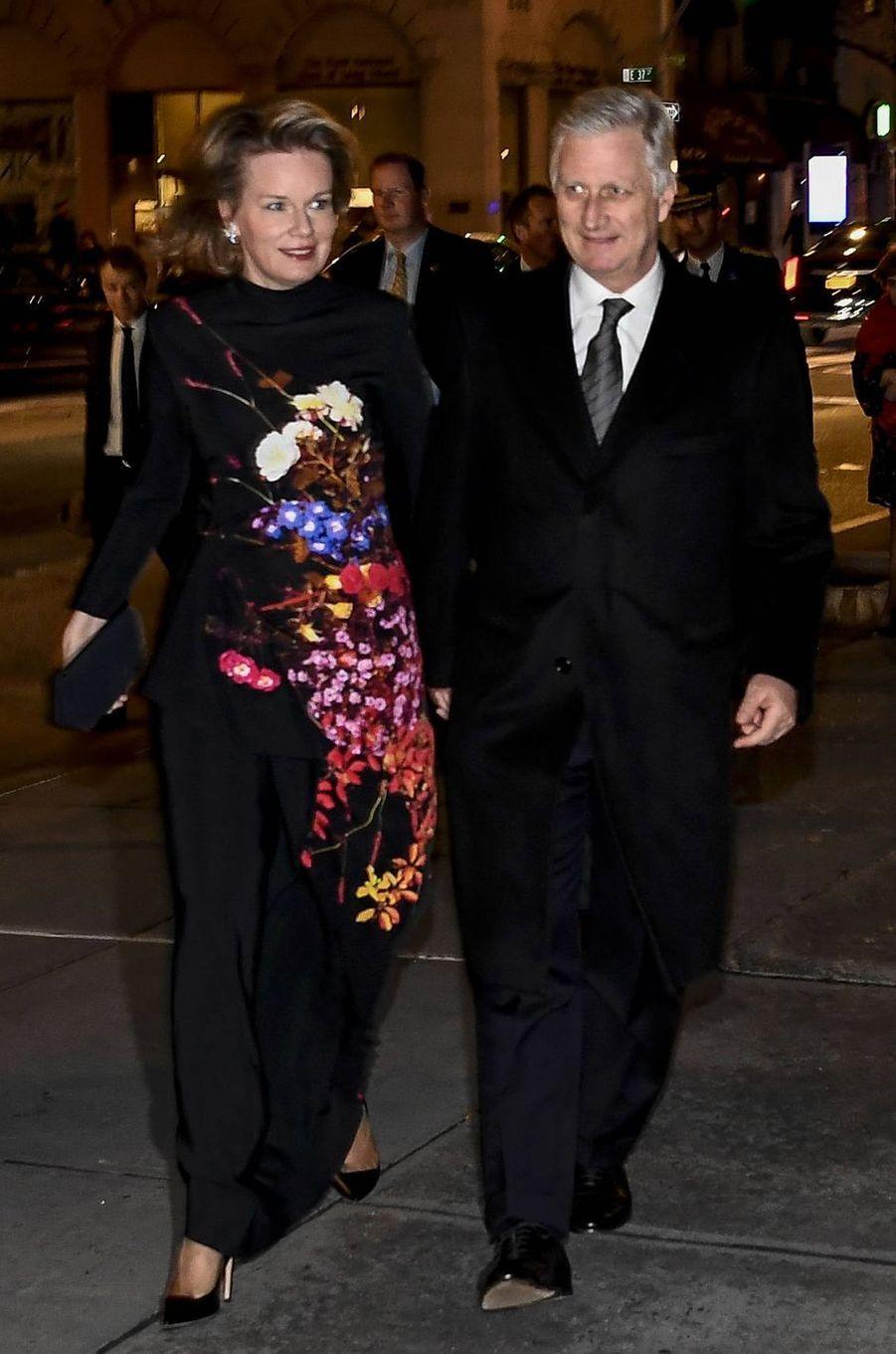 La reine des Belges Mathilde à New York, le 11 février 2020