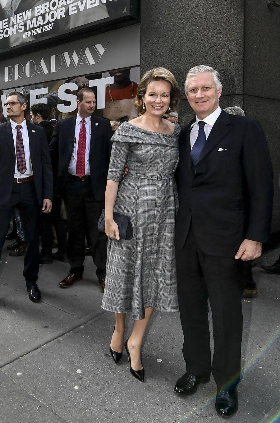 La reine des Belges Mathilde à New York, le 12 février 2020