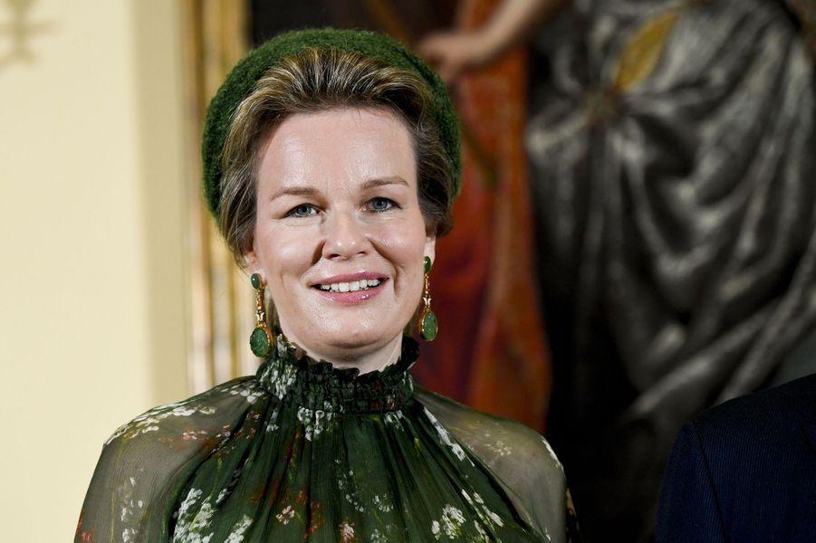 La reine des Belges Mathilde à Luxembourg, le 15 octobre 2019