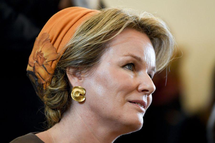 La reine des Belges Mathilde au Luxembourg, le 16 octobre 2019