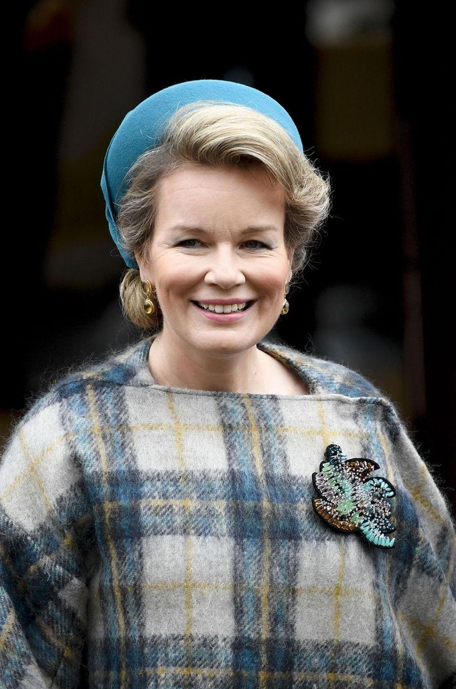La reine des Belges Mathilde au Luxembourg, le 17 octobre 2019