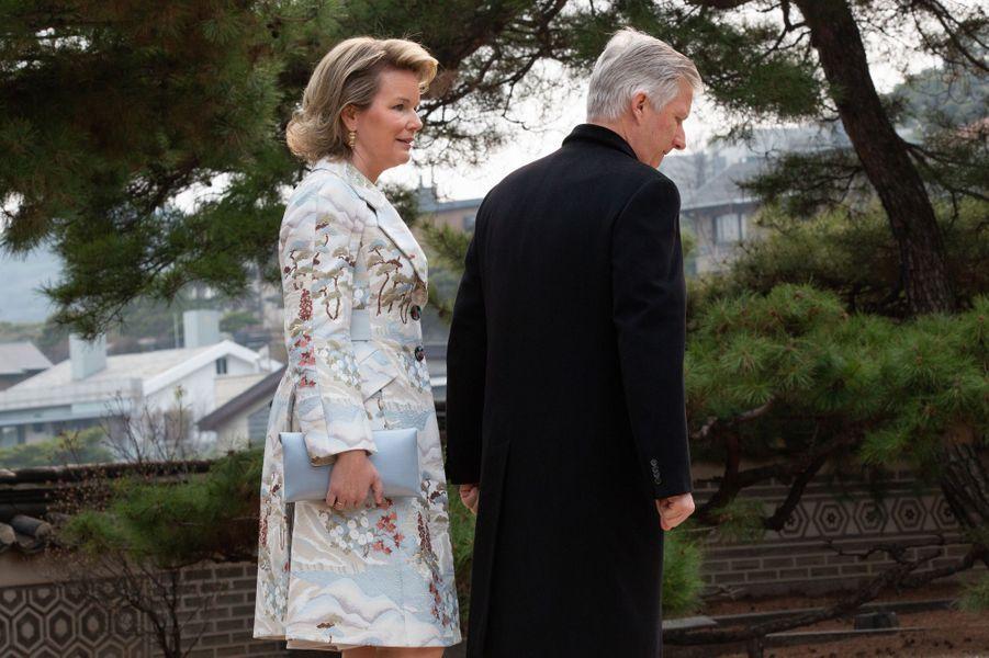 La reine des Belges Mathilde en Corée du Sud, le 25 mars 2019