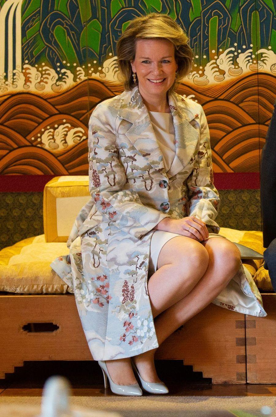 La reine Mathilde de Belgique en Corée du Sud, le 25 mars 2019