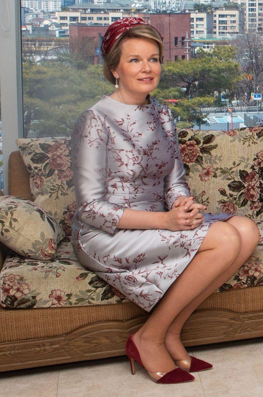 La reine des Belges Mathilde en Corée du Sud, le 26 mars 2019
