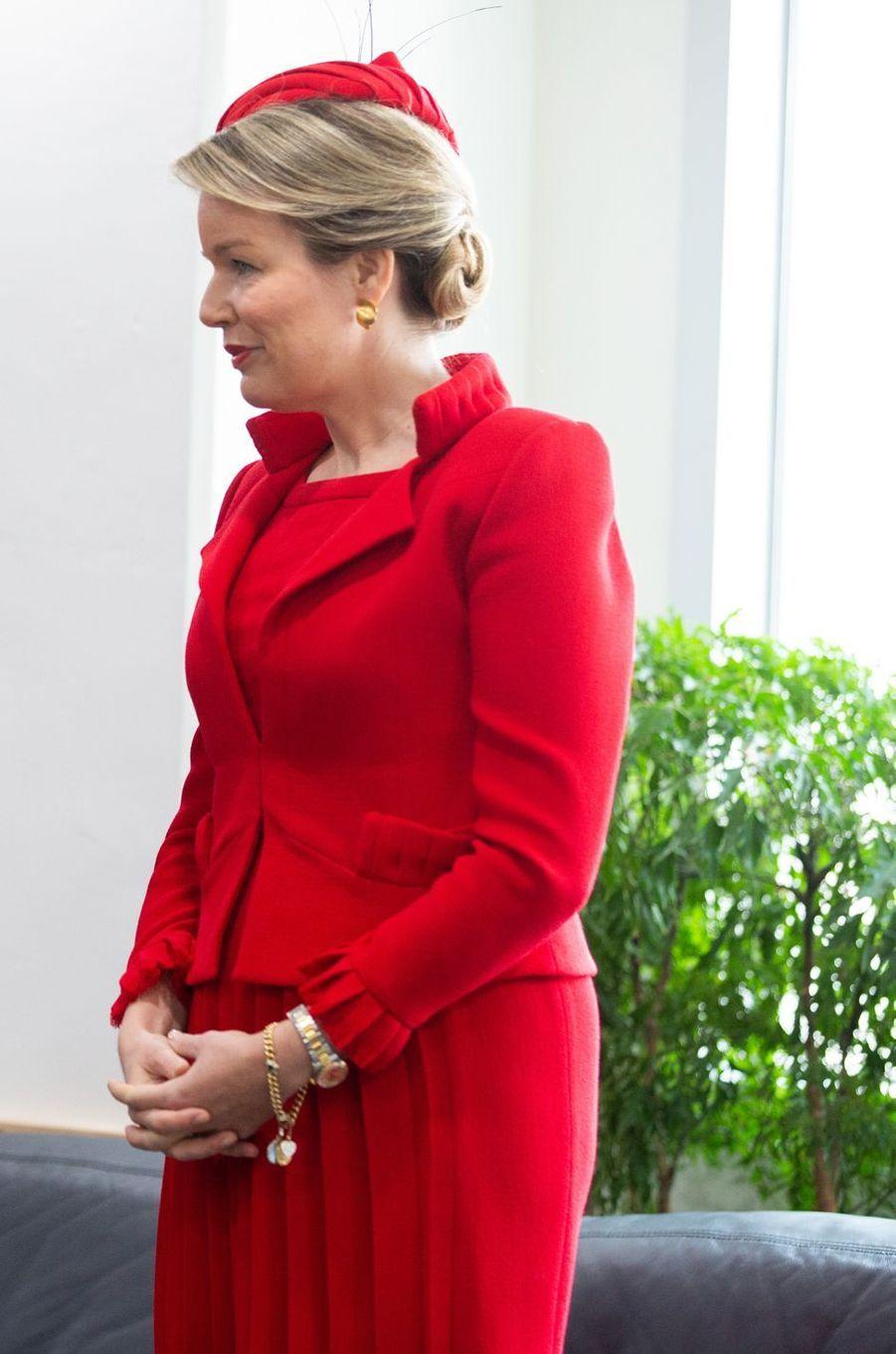 La reine des Belges Mathilde en Corée du Sud, le 27 mars 2019