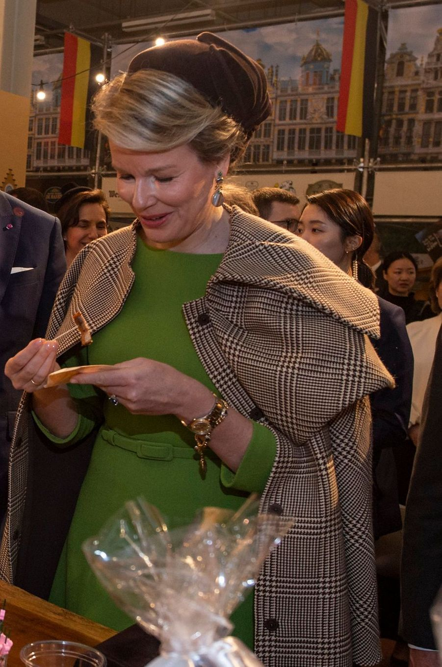 La reine des Belges Mathilde en Corée du Sud, le 28 mars 2019