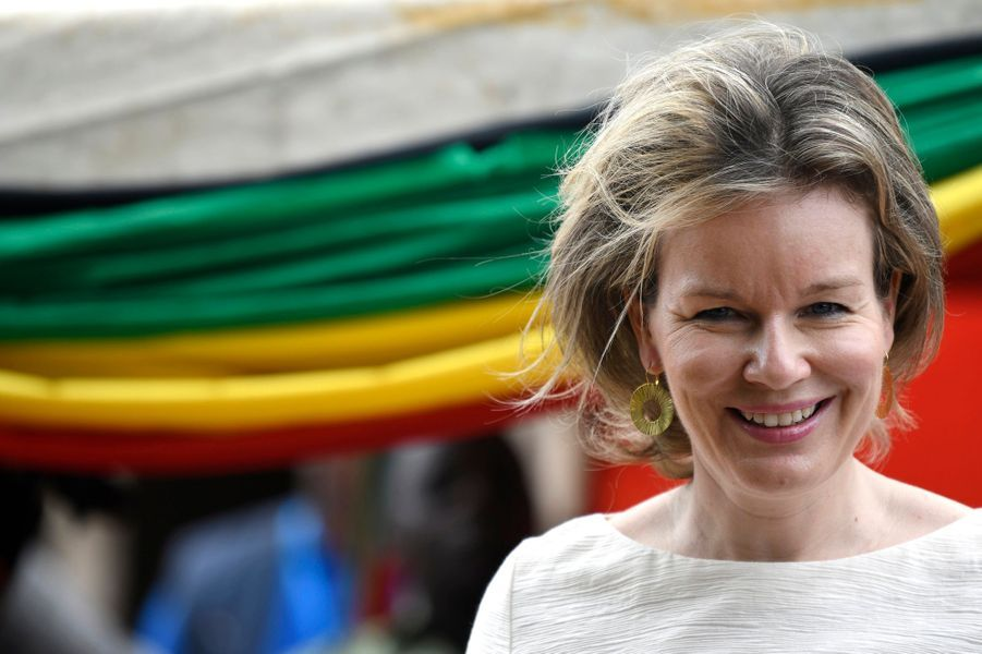 La reine Mathilde de Belgique au Mozambique en visite humanitaire au nom de l'ONU, le 5 février 2019