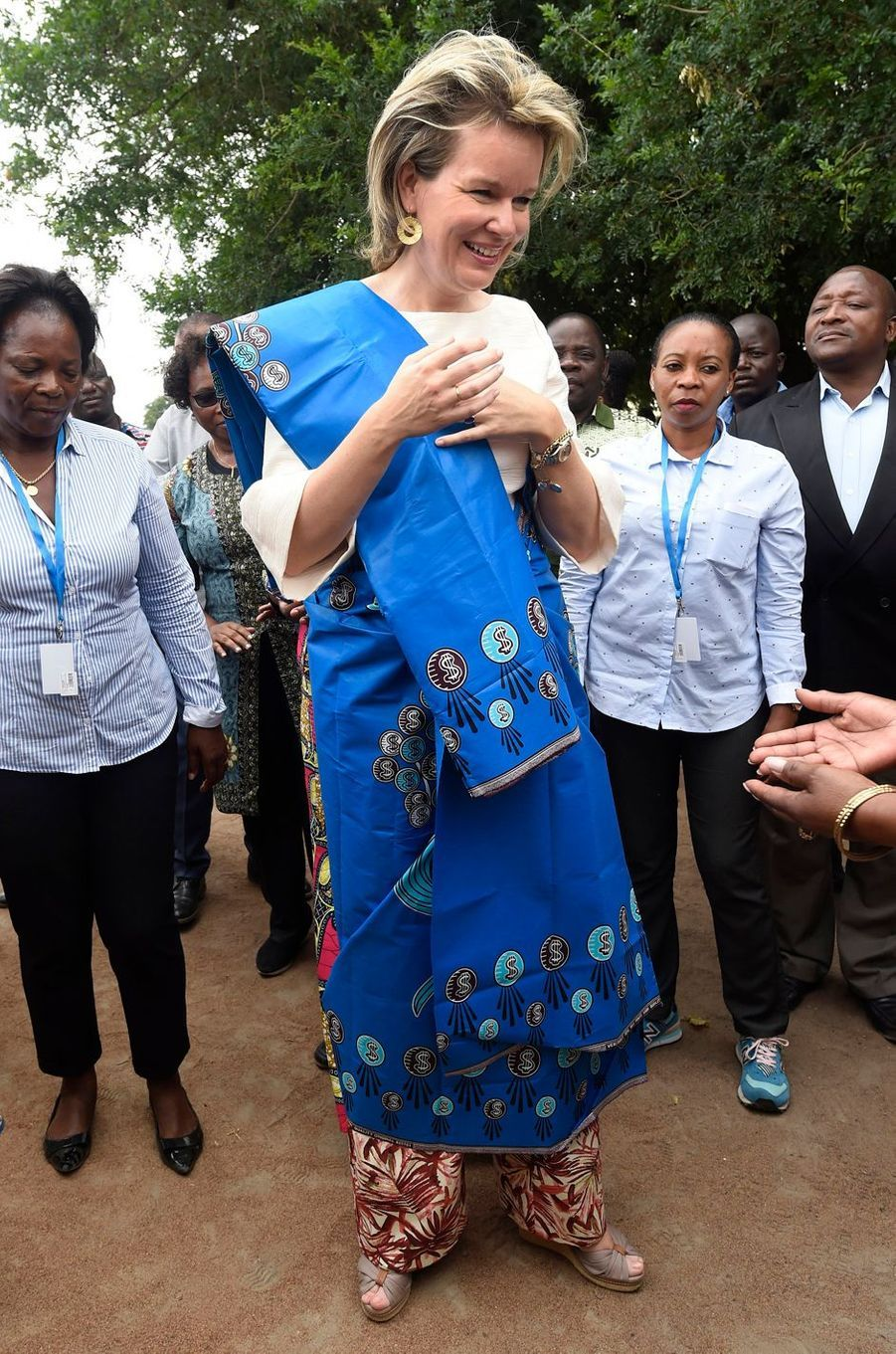 La reine Mathilde de Belgique au Mozambique en visite humanitaire, le 5 février 2019