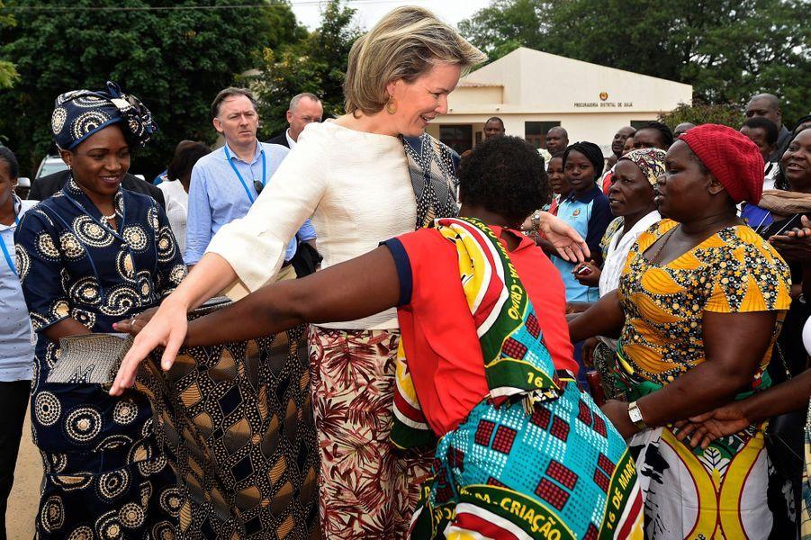 La reine des Belges Mathilde au Mozambique, le 5 février 2019