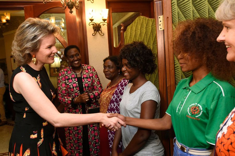 La reine des Belges Mathilde à Maputo au Mozambique, le 5 février 2019