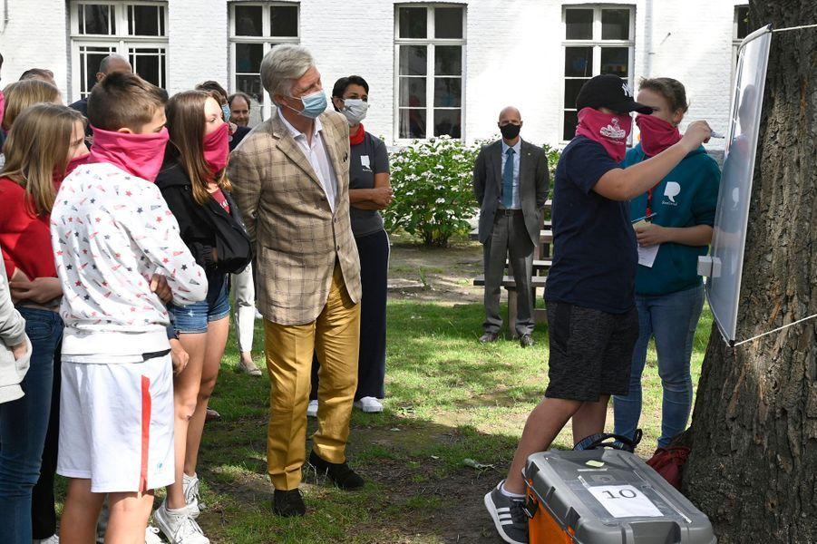 Le roi des Belges Philippe, le 7 juillet 2020 à Gand