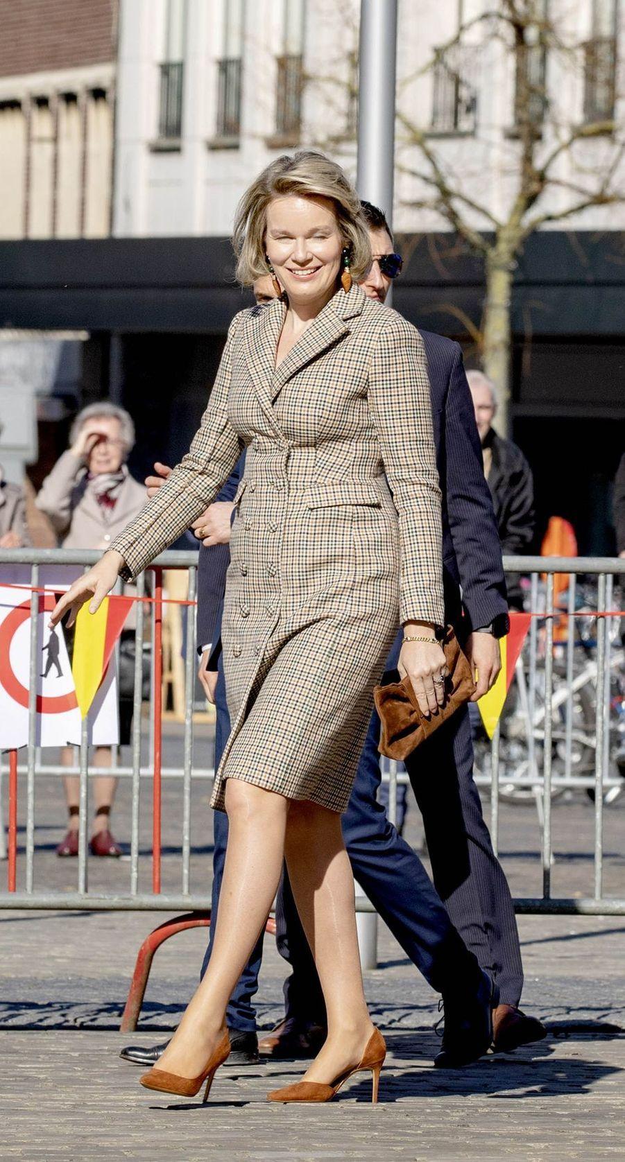 La reine des Belges Mathilde à Herendals, le 26 février 2019