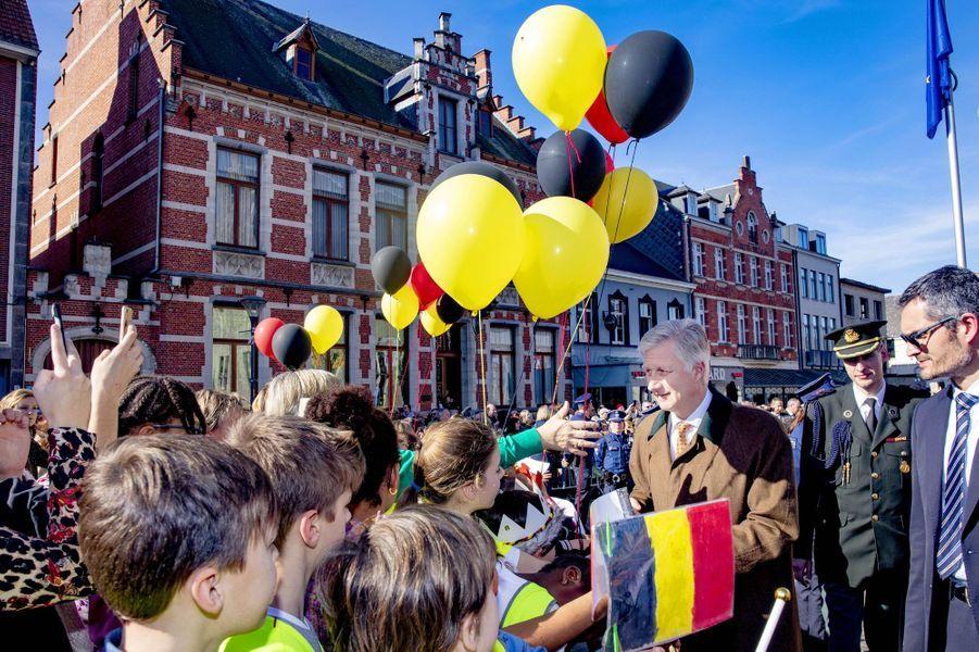 Le roi des Belges Philippe à Herendals, le 26 février 2019