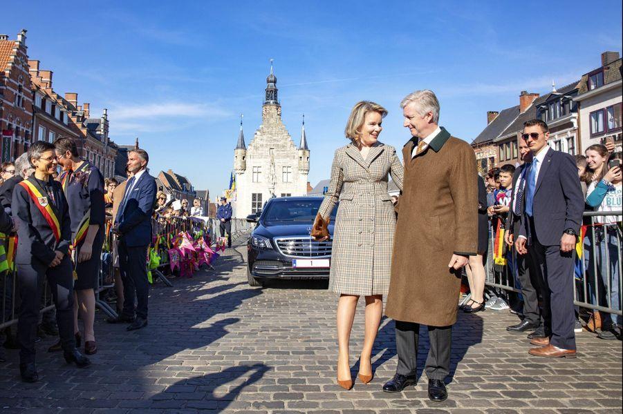 La reine Mathilde et le roi des Belges Philippe à Herendals, le 26 février 2019