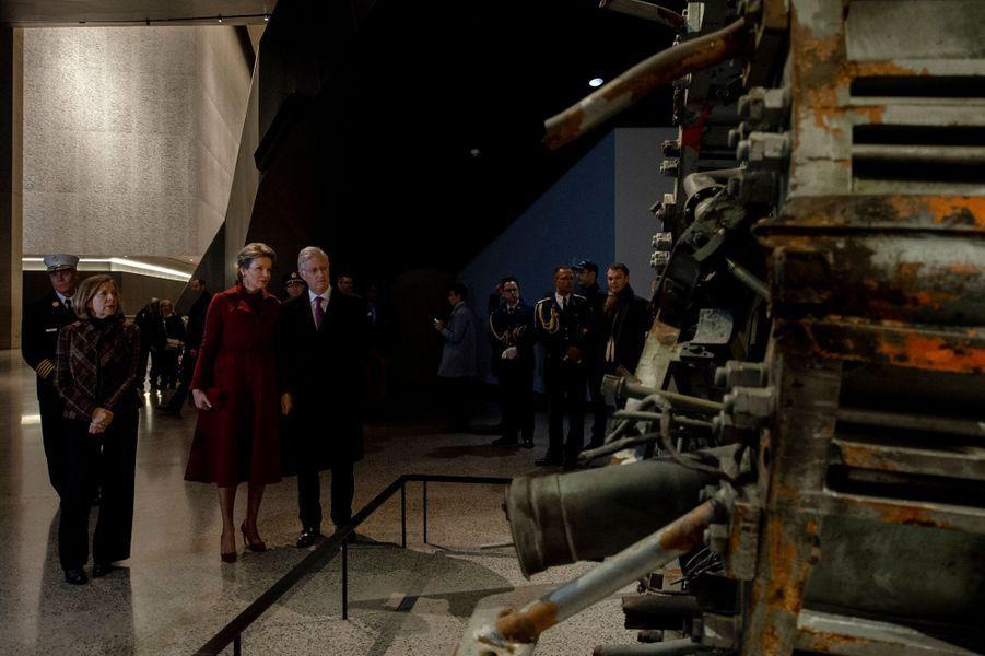 La reine Mathilde et le roi des Belges Philippe à New York, les 11 février 2020