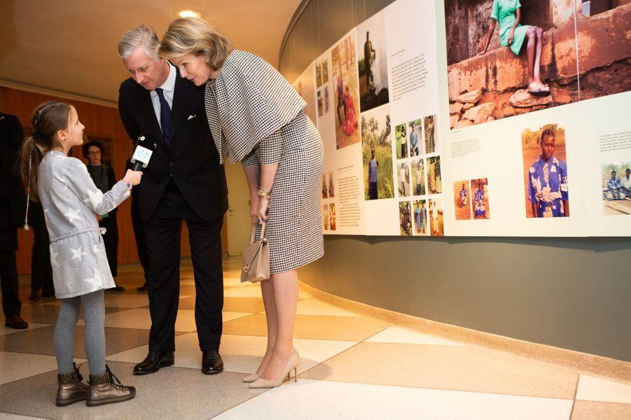 La reine Mathilde et le roi des Belges Philippe à New York, les 12 février 2020