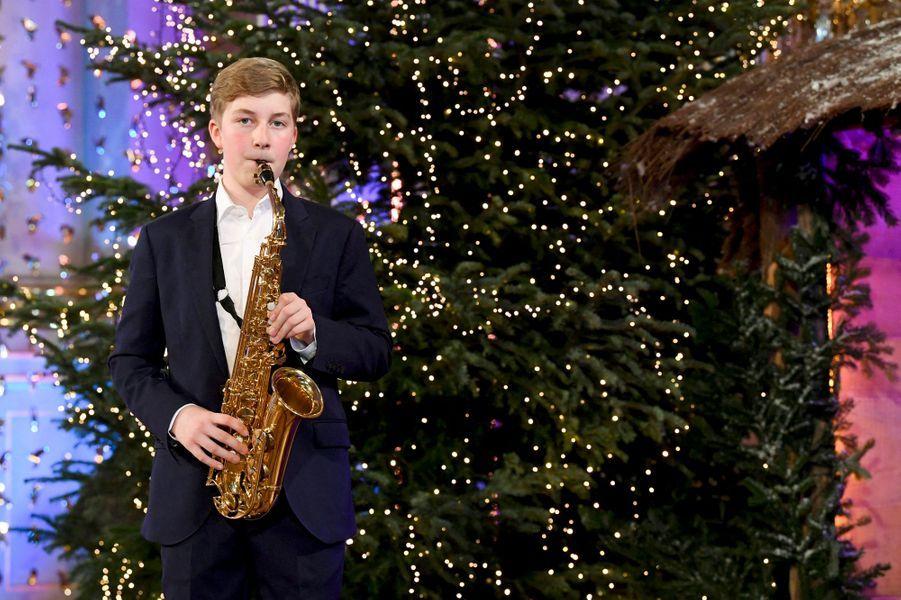 Le prince Emmanuel de Belgique lors du concert de Noël à Bruxelles, le 16 décembre 2020