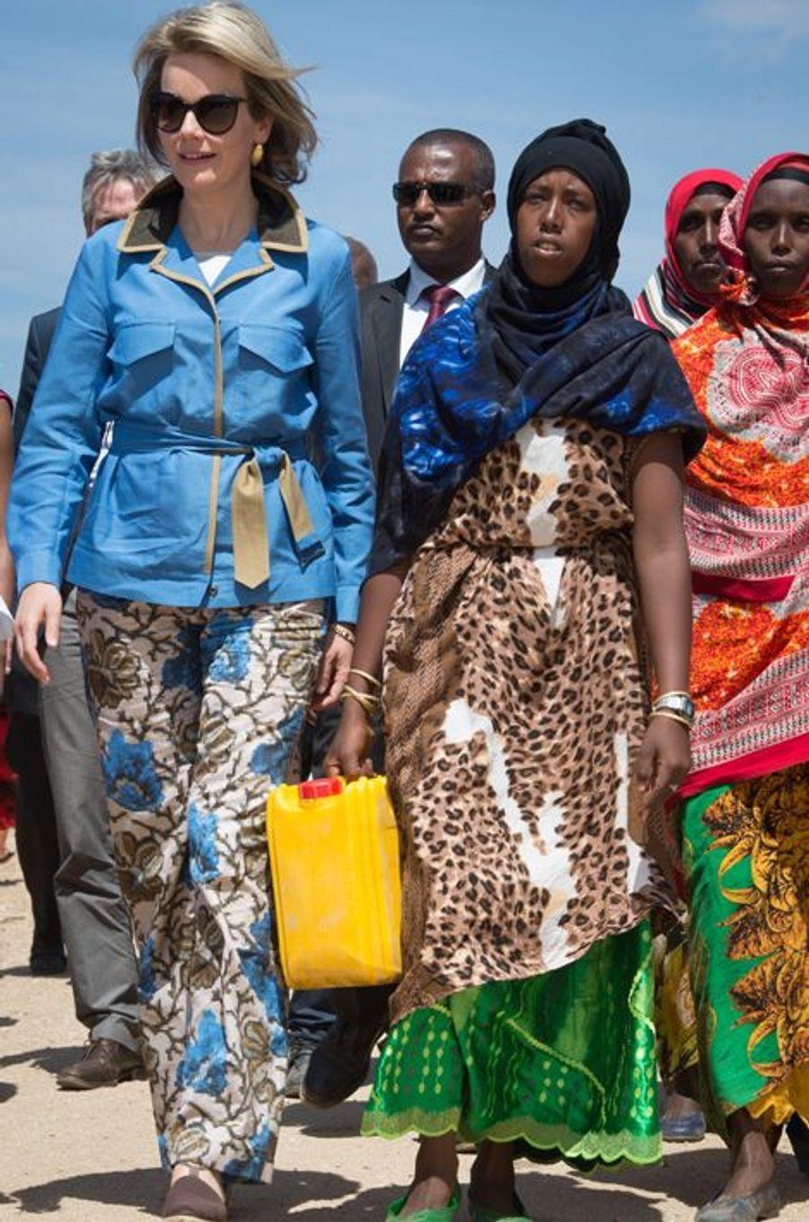 La reine Mathilde de Belgique en Ethiopie, le 10 novembre 2015