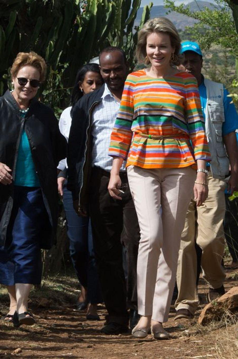 La reine Mathilde de Belgique en Ethiopie, le 11 novembre 2015