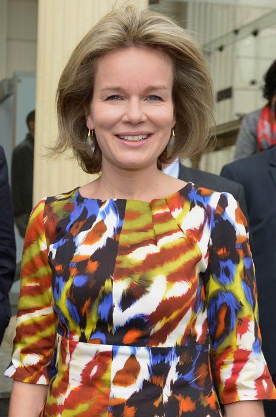 La reine Mathilde de Belgique en Ethiopie, le 12 novembre 2015