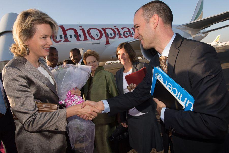 La reine Mathilde de Belgique en Ethiopie, le 9 novembre 2015